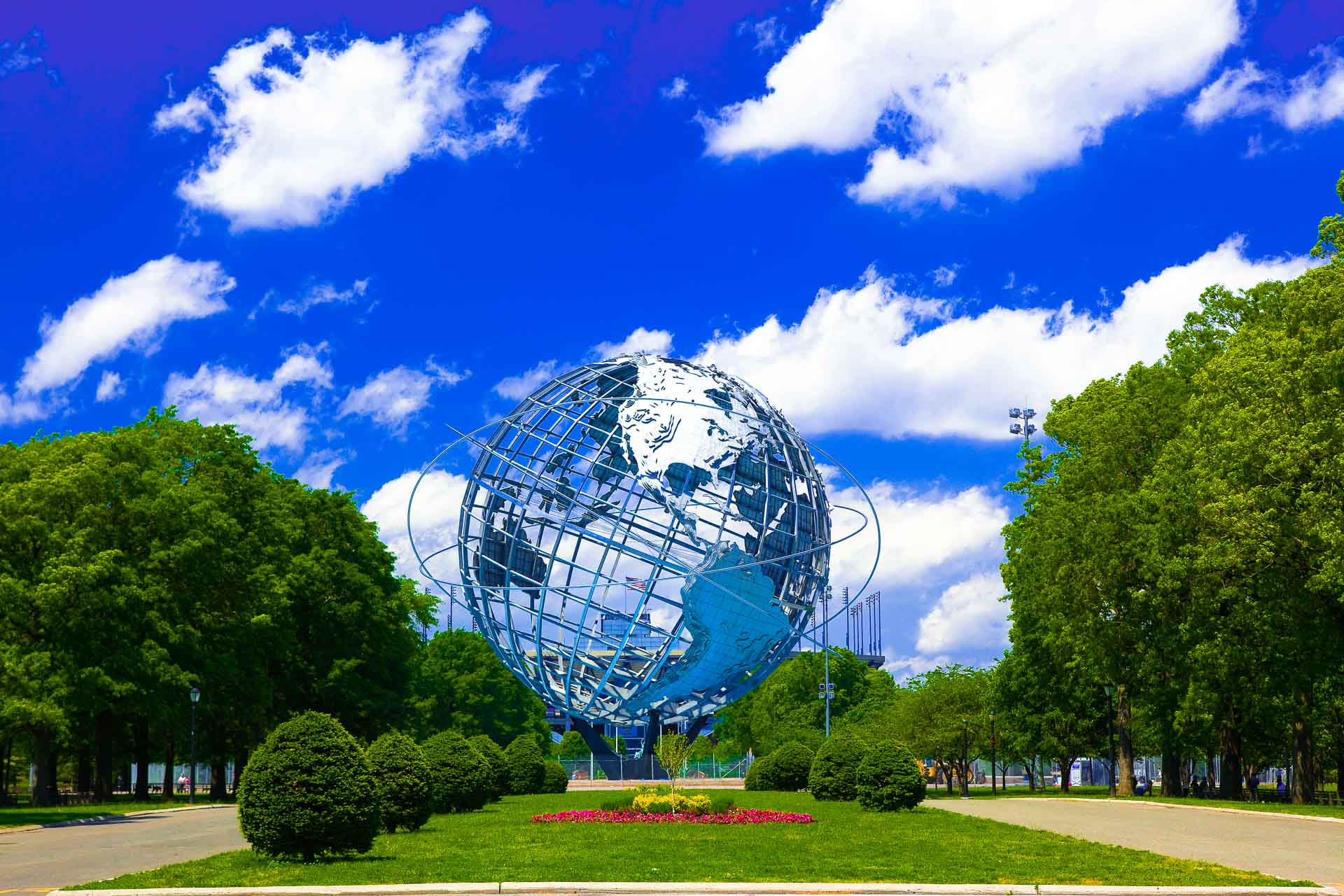 the Unisphere in Flushing Meadows Park New York City